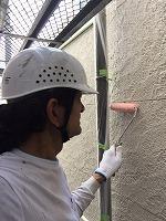 6-19外壁下塗りミラクシーラーECO塗布 (2)