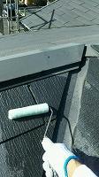 9-21屋根ミラクシーラーEPO下塗り1回目塗布
