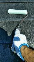 9-21屋根ミラクシーラーEPO下塗り2回目塗布