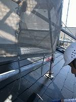 8-31大屋根シリコンベスト上塗り1回目塗装(2)