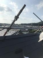 7-31屋根上塗りファインシリコンベスト塗布2回目 (1)
