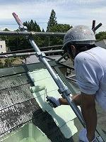 6-9屋根(ガイナ)上塗り塗装1回目1