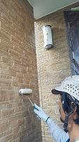 8-5外壁上塗りUVプロテクトクリヤー塗布1回目 (9)