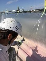 8-31屋根ハイポンファインデクロ下塗り塗装 (1)
