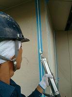 5-15シール工事の充填作業