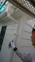 6-13外壁4Fフッ素付帯部上塗り塗装1回目9