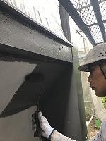8-10外壁ファインSi上塗り1回目塗布(2)
