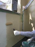 4-30南面外壁上塗りフッ素塗布1回目3