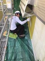 7-6外壁ラジカルコート上塗り1回目 (4)