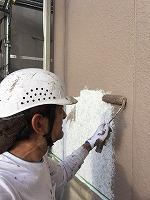 8-26外壁上塗りラジカルコートパーフェクトトップ塗布1回目 (3)