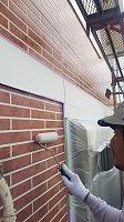 8-23外壁UVプロテクトクリヤー1回目塗装 (8)