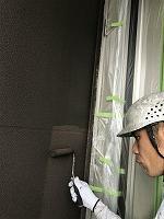9-11、1階部外壁ダイヤカレイド中塗り2回目塗装(2)