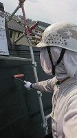 7-29屋根下塗りミラクシーラーEPO塗布1回目1
