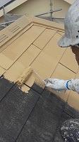 7-21屋根ガイナ上塗り1回目塗布