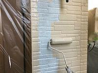 7-12外壁ダイナミックTOP上塗り1回目塗布