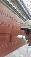2階手すり外壁ラジカルパーフェクトトップ上塗り3回目塗布 (2)