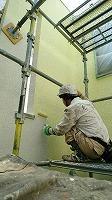 5-29中庭外壁ダイナミックトップ上塗り1回目