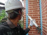 9-6外壁シール充填作業