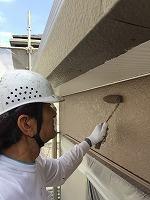 8-28外壁上塗りラジカルコートパーフェクトトップ塗布2回目 (1)