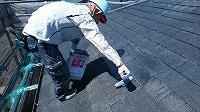 5-28屋根エポキシ系シーラー下塗り2回目