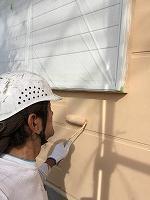 9-19外壁1階西面ガイナ上塗り3回目塗布 (1)