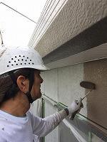 8-26外壁上塗りラジカルコートパーフェクトトップ塗布1回目 (1)