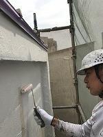 4-29壁面(カンペアレスダイナミックフィラー)中塗り塗装 (3)