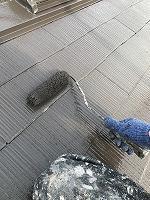 9-13大屋根サーモアイ4Fフッ素上塗り2回目塗装(2)