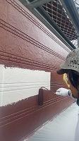 2階手すり外壁ラジカルパーフェクトトップ上塗り1回目塗布 (1)