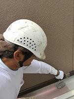 9-5ベランダ床シリコンルーフ上塗り1回目塗装 (1)