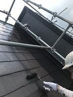 8-21屋根ファインシリコンベスト上塗り2回目塗装(1)