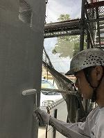 5-16壁面(SK水性ソフトサーフ)中塗り塗装2回目 (6)