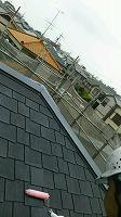 5-15屋根ミラクシーラーエポ2回目塗布