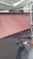 6-6屋根上塗りシリコンベスト塗布2回目 (3)