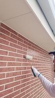8-23外壁UVプロテクトクリヤー1回目塗装 (1)
