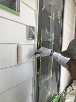 6-12外壁上塗りラジカルコートパーフェクトトップ塗布2回目3