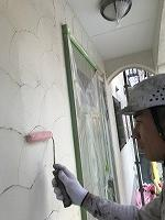 4-29外壁下塗りミラクシーラーECO塗布 (1)