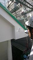 6-13外壁4Fフッ素付帯部上塗り塗装1回目5