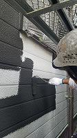7-28外壁1階上塗りラジカルコート1回目塗布 (3)