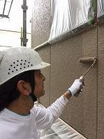 8-28外壁上塗りラジカルコートパーフェクトトップ塗布2回目 (4)