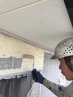 9-23壁面(ニッペ4Fフッ素)上塗り塗装1回目1