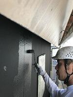 5-18東・北面外壁上塗り無機マスターズコート2回目塗布1