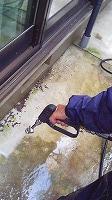 8-18土間及び玄関床高圧洗浄