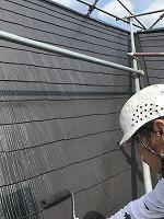 7-31屋根上塗りファインシリコンベスト塗布1回目 (4)