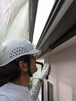 6-24破風幕板上塗りフッ素塗布1回目 (1)