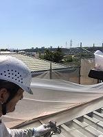 8-31屋根シリコンルーフ2回目塗装 (2)