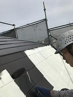 9-13大屋根サーモアイ4Fフッ素上塗り1回目塗装(4)