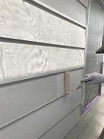 6-11外壁上塗りラジカルコートパーフェクトトップ塗布1回目4