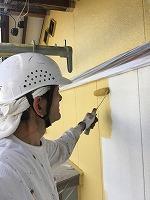 5-6外壁上塗りダイナミックトップ塗布1回目 (1)