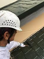 9-22屋根サーモアイ遮熱フッ素上塗り1回目塗装 (2)